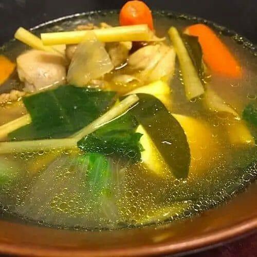 turmeric chicken soup bone broth recipe