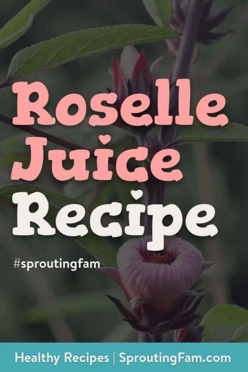 roselle juice recipe pinterest image