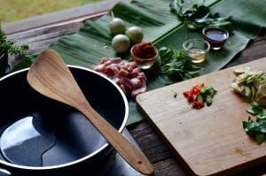 coconut cooking oil for panang curry