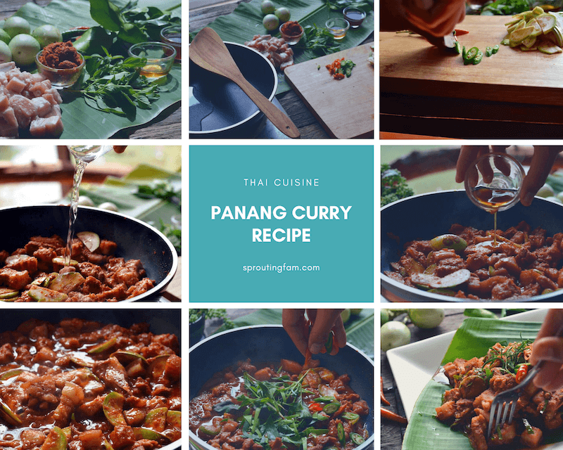 Panang Curry Recipe collage