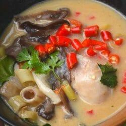 tom khai gai soup recipe authentic and finished!